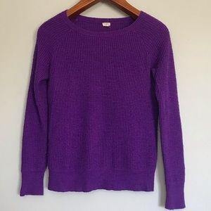 J. Crew purple waffle weave wool/alpaca sweater